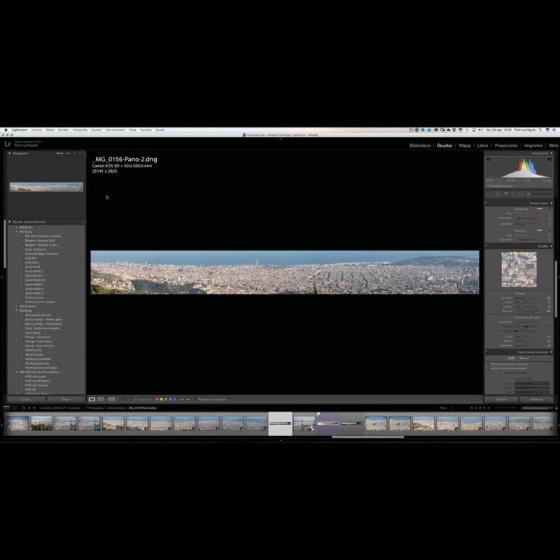 135. Cómo hacer fotografías panorámicas en Adobe Lightroom
