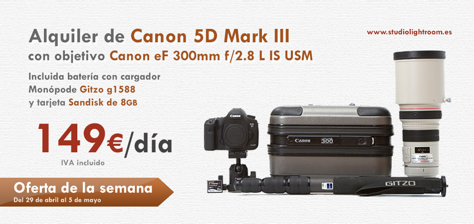 Oferta de la semana canon 5d mark iii m s objetivo 300mm for Canon 5d mark ii precio