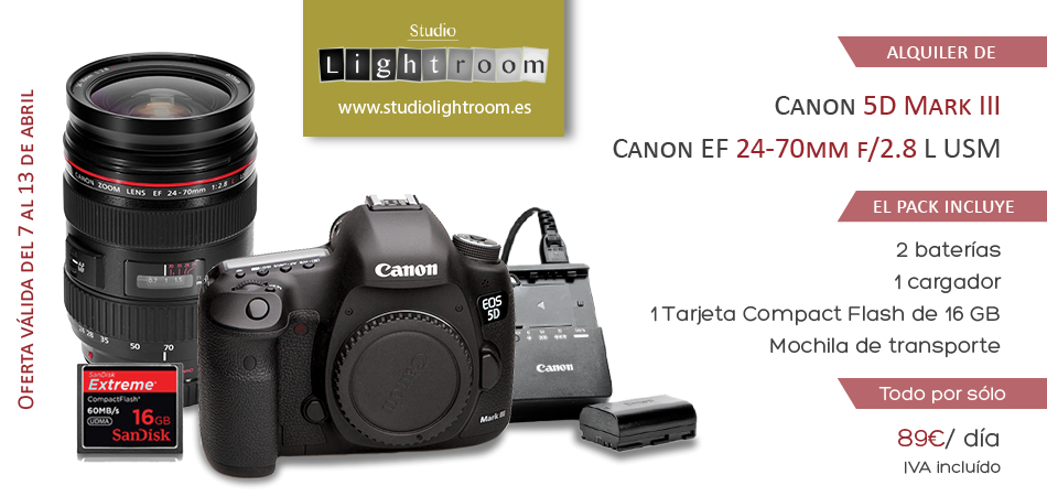 Oferta de la semana canon 5d mark iii con 24 70mm f 2 8 for Canon 5d mark ii precio